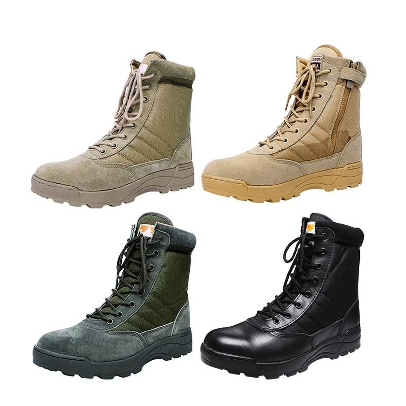 Durable suede leather military combat boots desert color tactical SWAT boots MB01