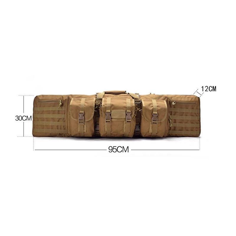 Military tactical gun carry rifle bag 42 '' airsoft double gun case military bags