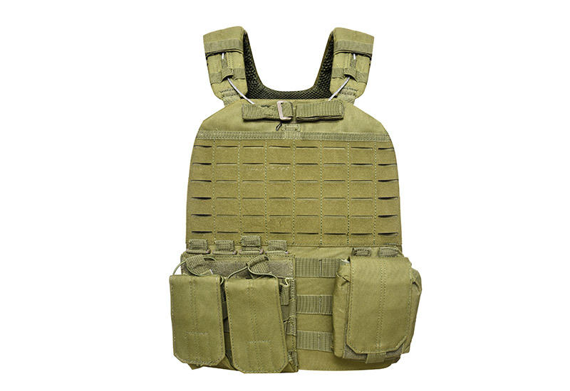 Tactical Vest 600D Polyester Oxford Olive Green Yemen Army GXTV-01-1
