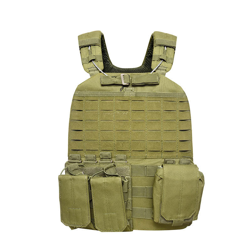 Tactical Vest 600D Polyester Oxford Olive Green Yemen Army GXTV-01-3