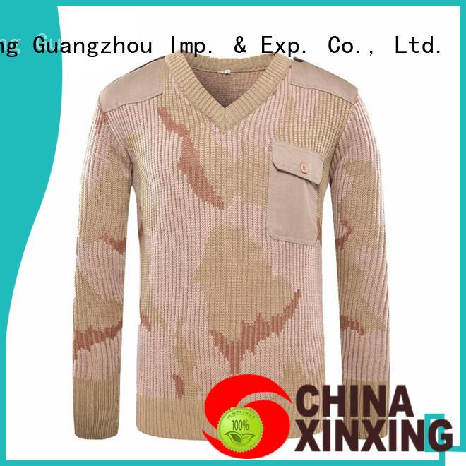 XinXing khaki military apparel manufacturer for wholesale