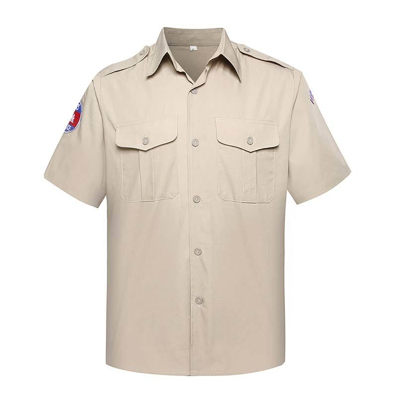 Official Shirt Khaki TC 180 GSM for Cambodian Police OSXX02