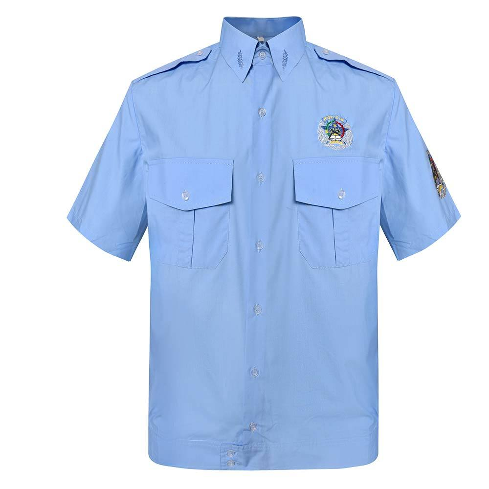 Official Short-sleeve Shirt Khaki TC 120 GSM for Angola Police OSXX03