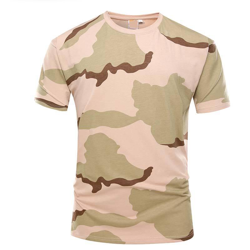 Military desert camo color short sleeves OEM knited T shirt