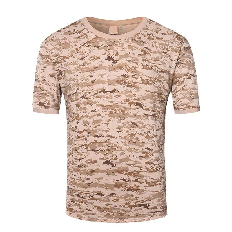 Military digital desert camo color daily wearing OEM knited T shirt