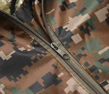 Military Outdoor Forest Camouflage 190T Polyester 145*210cm PVC Coating Poncho or Raincoat PRXX03