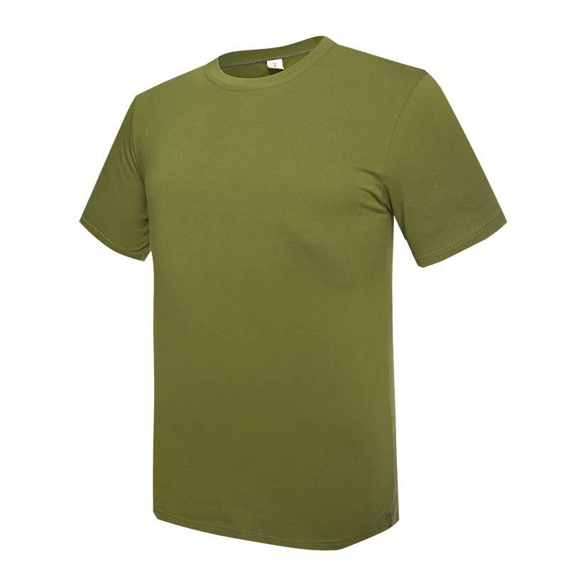 Military olive green color summer outdoor training OEM knited T shirt