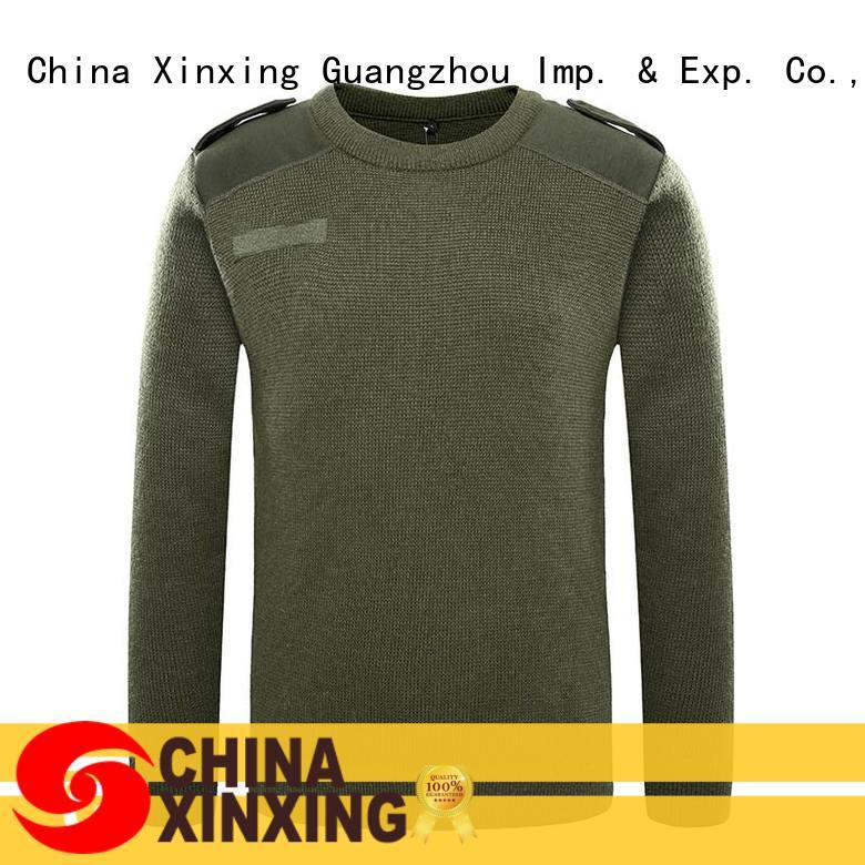 XinXing stable supply army sweater factory for policeman